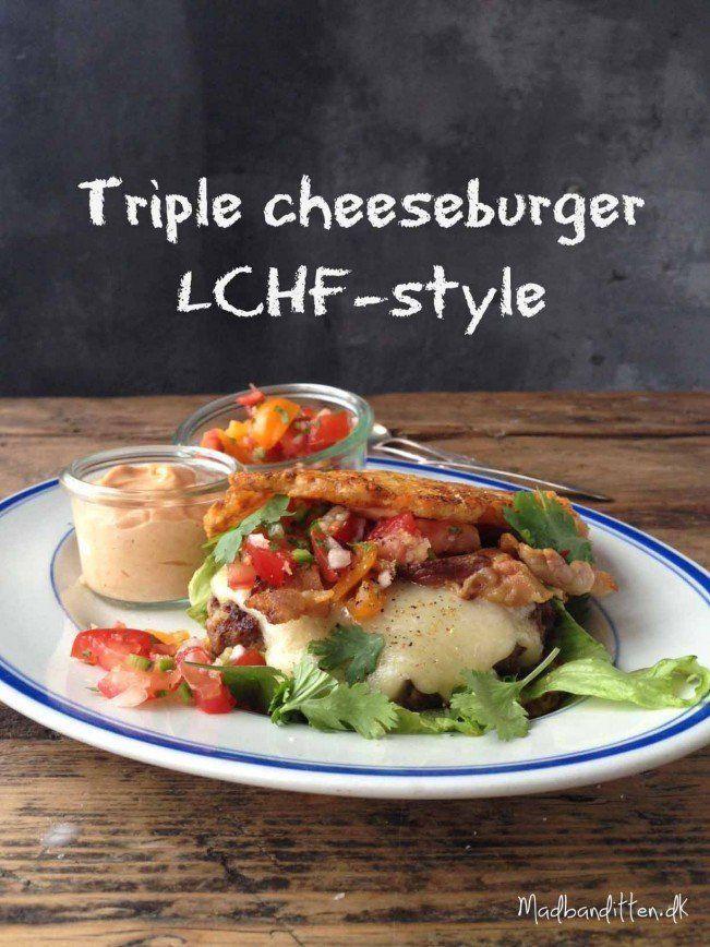 Triple cheeseburger à la LCHF