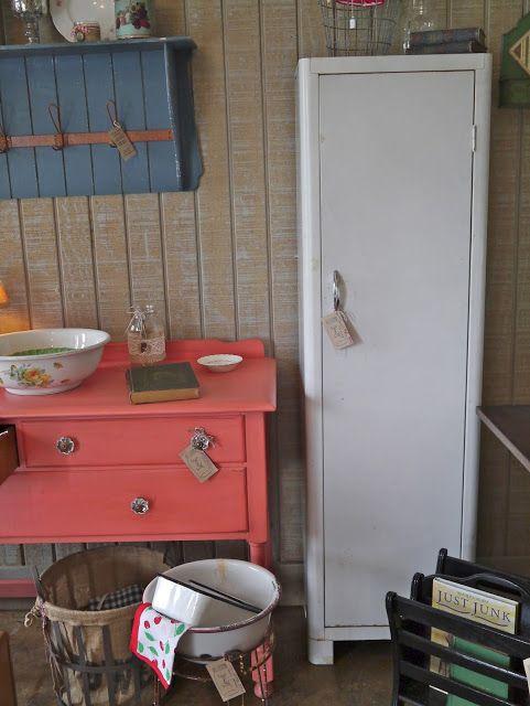 Vintage White Metal Pantry Cottage Style Pinterest