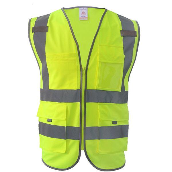EN471 hi vis vest utility vest safety gilet reflective securite  reflective safety vest free shipping