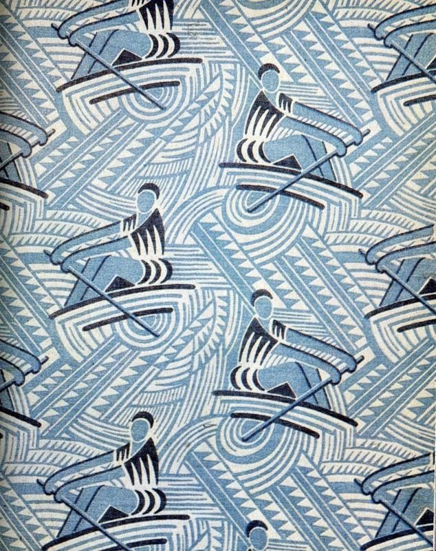 aquatic sports, from soviet fabrics of the 20s and 30s