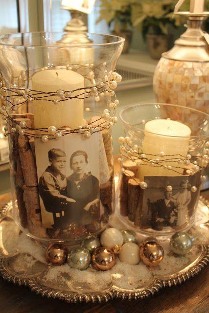 coller des photos sur les photophores ou les vases