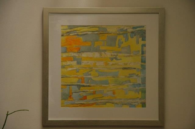 """""""Epic of Colours"""", Watercolours and Inks, 24"""" x 27"""", $500.00, Framed"""
