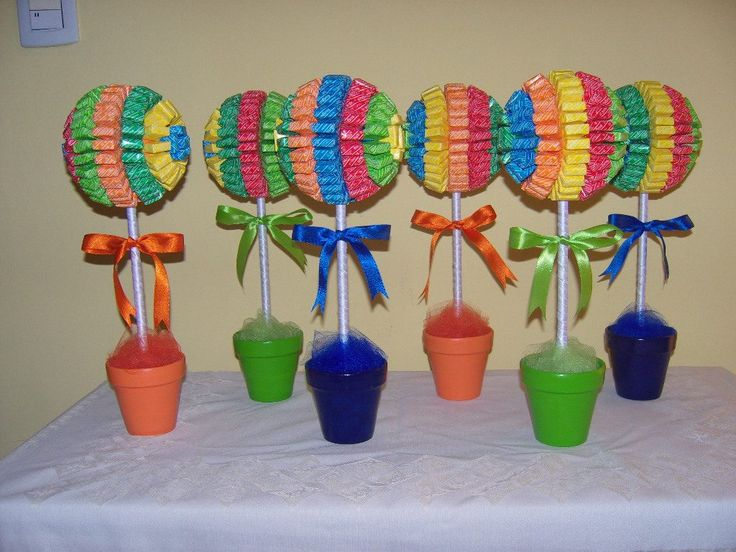 1000 images about centros de mesa con dulces on pinterest - Manualidades centros de mesa ...