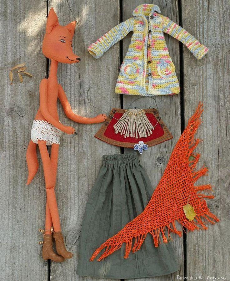 Лисичка Патрисия и ее гардероб... почти всё снимается, кроме сапог и нижнего белья, да и трусишки можно было бы стянуть, если бы не хвостик! :-)) ______ Ростиком 50 см, 3900р. Лисичку можно заказать.  #handmade #handmadedoll #dolllovers #toy #tanushkini_igrushki #dollmaker  #кукла #текстильнаякукла #ручнаяработа #куклаизткани #instadoll #textiledoll #интерьернаякукла #осень #autumn #fall  #длядетей #лиса #лисичка #fox #куклы #animaldoll #кукладлядевочки #игрушкавподарок  #doll #toys_gallery…