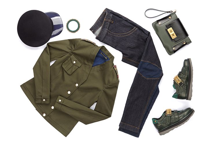 Myrtle green, #British taste and #Italian #style: discover how to wear the #fw1415 #fashion #trends.