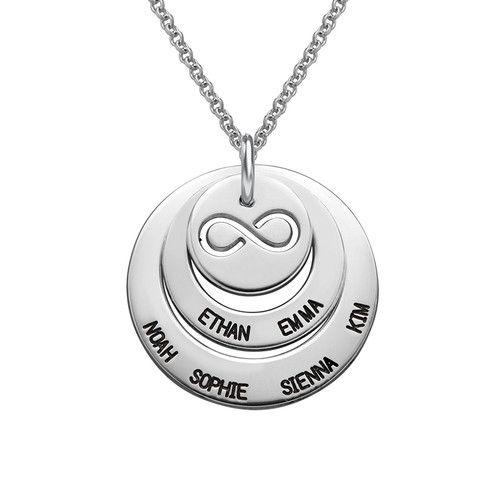Persoonlijke Familie Ketting met Infinity Symbool | Mijnnaamketting