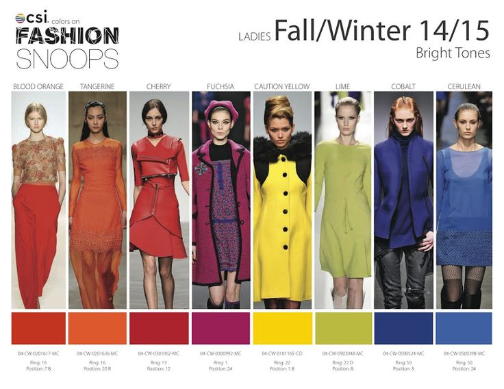 FASHION VIGNETTE: TRENDS // FASHION SNOOPS . COLORS A/W 2014-15