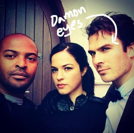Ian Somerhalder takes some Instagram photos with his Anomaly co-star Alexis Knapp!