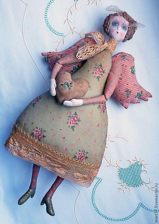 """Купить """" Весной..так хочется влюбиться.."""" - мятный, ангел, сердечко, кукла, игрушка"""