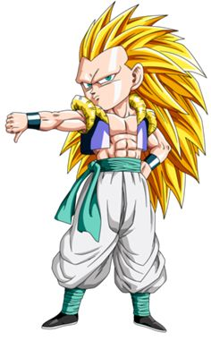 Super Saiyajin - Dragon Ball Wiki, Gotenks SSJ 3 Render.png