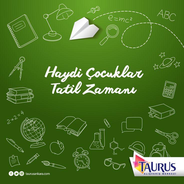 Bu defa ziller tatil için çaldı! Haydi çocuklar şimdi tatil zamanı! Sömestir tatilinde Taurus'un Kızılderili ve Planetaryum etkinliklerini kaçırmayın! #taurusavm #burasısürprizlerledolu Detaylar için; http://www.taurusankara.com/etkinlikler