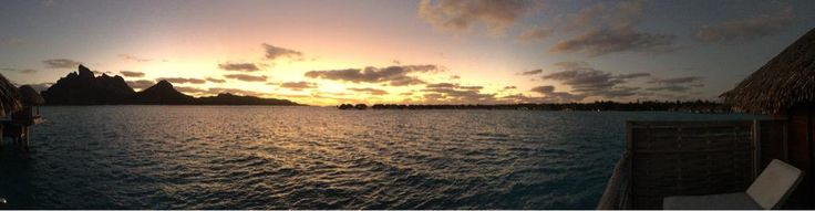 Atardecer panorámico desde mi over The water bungalow en #BoraBora #Tahiti (@rauldemolina) | Twitter