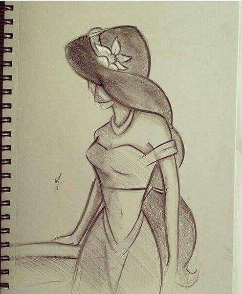 Princess Jasmine Drawing