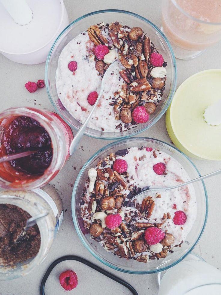 Kvinoatuorepuuro // Quinoa Raw Porridge with Peanut Butter Food & Style Alisa Wilska, Suusta suuhun Photo Alisa Wilska www.maku.fi
