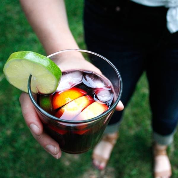 France 44: Classic Red Sangria // Serves 4 // 1 bottle fruity red wine (try Lechuza Garnacha) // 4 oz brandy (like Camus VS cognac) // 3 oz simple syrup // 1 cup sliced, seeded citrus fruit (lemons, oranges, limes) // Combine everything in a pitcher and chill for 4-6 hours (at least). Serve over ice