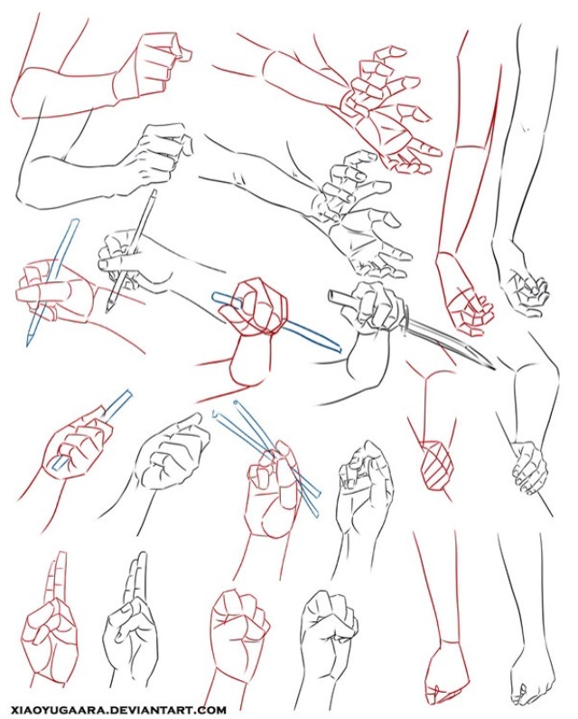 Different hand positions
