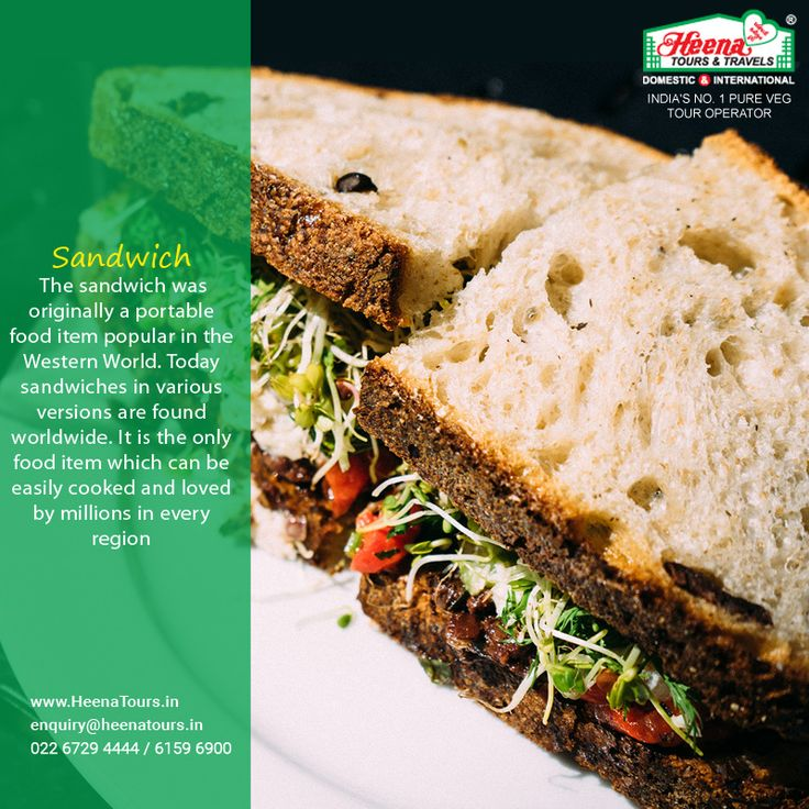 The sandwich was originally a portable food item popular in the Western World. Today sandwiches in various versions are found worldwide. It is the only food item which can be easily cooked and loved by millions in every region.