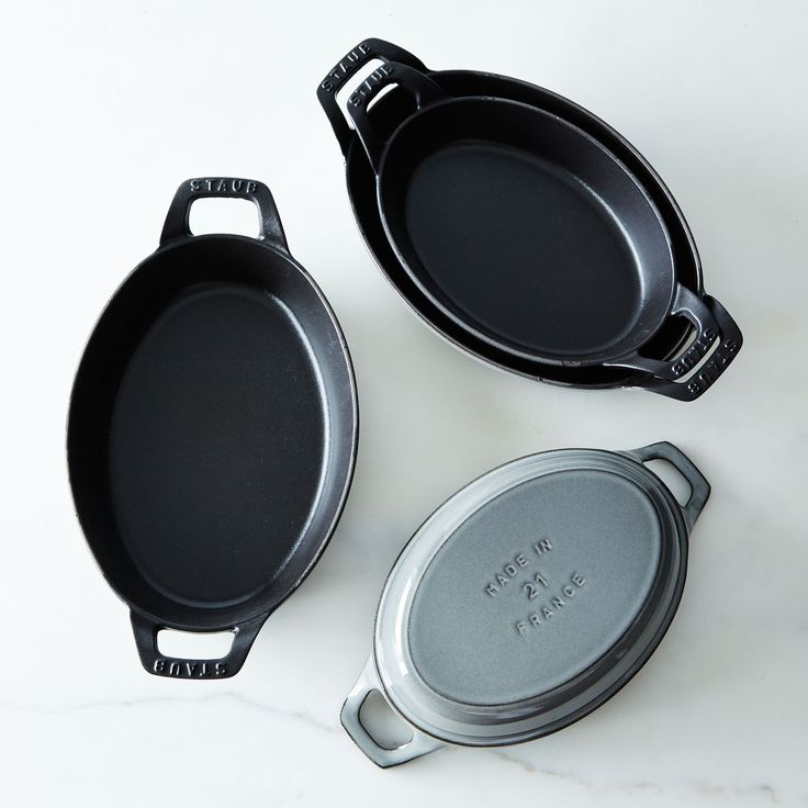 """For Us - Food52 Staub Oval Roasting Dishes in color """"Graphite"""" (All Sizes)"""