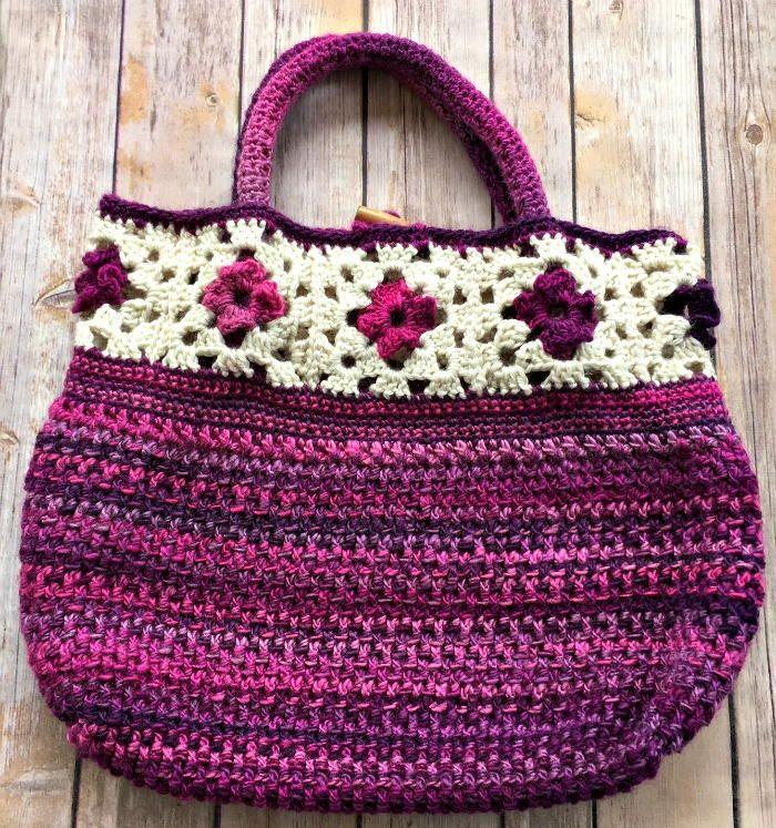 217 best Free Crochet Bag Patterns images on Pinterest | Crocheted ...