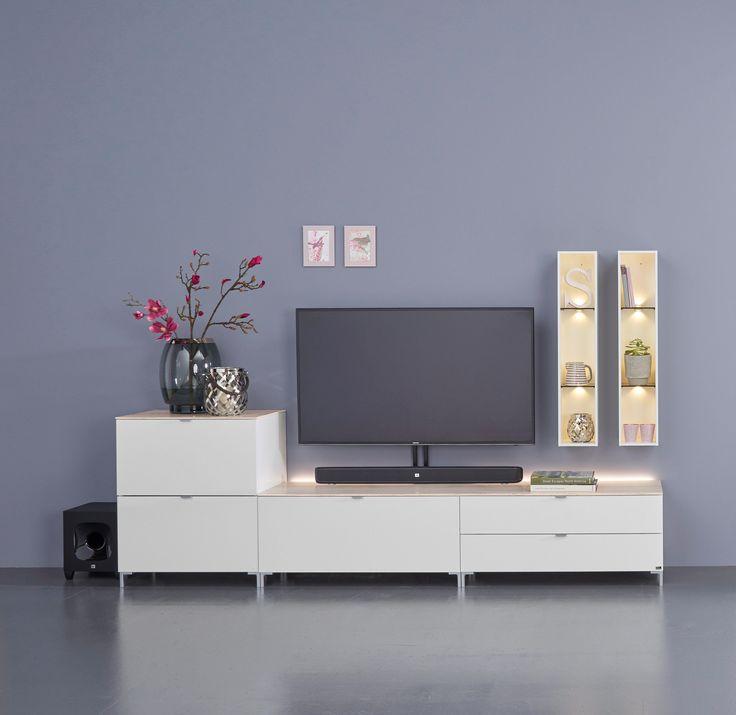 25 best ideas about wohnwand wei hochglanz on pinterest. Black Bedroom Furniture Sets. Home Design Ideas