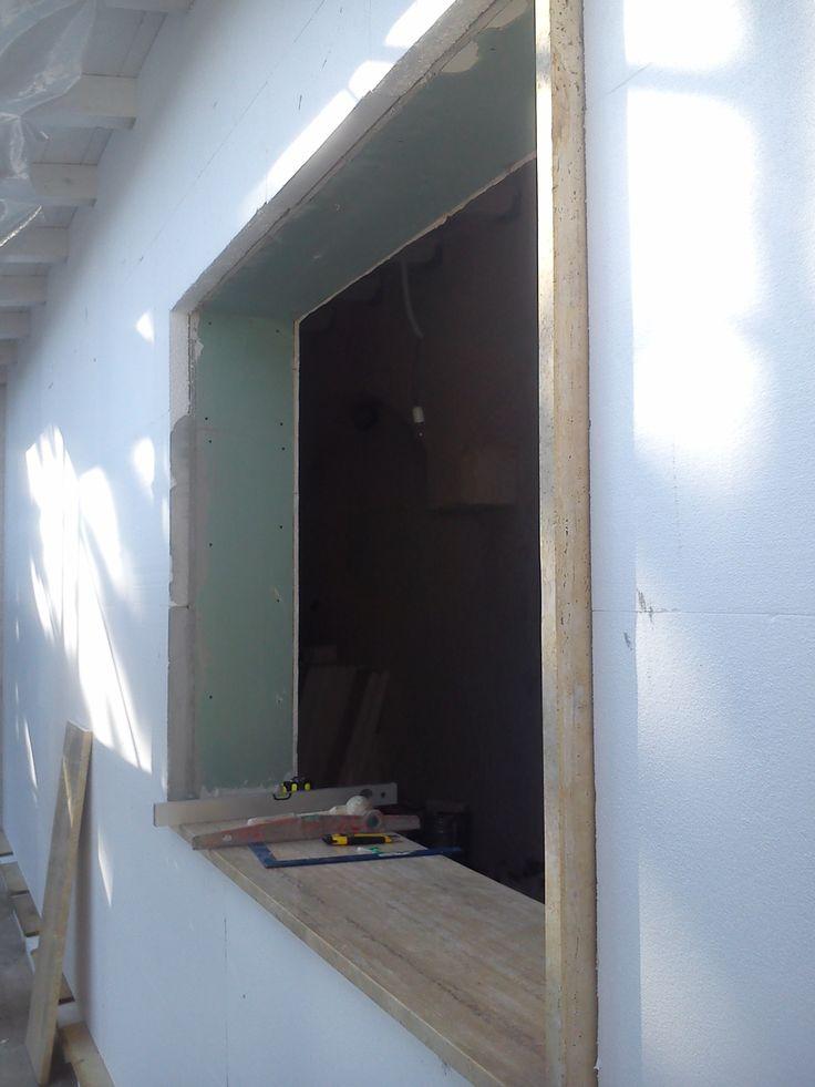 Chiusura veranda con AQUAPANEL e coibentazione in XPS