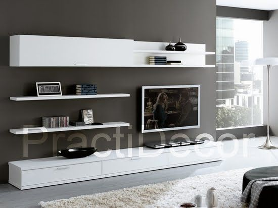 Ideas de modelos de amoblamientos modulares para sala tv for Muebles para tv modernos