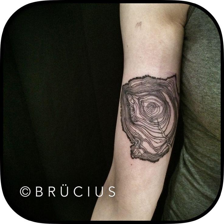 tree rings | Tree ring tattoo, Tattoos, Modern art tattoos