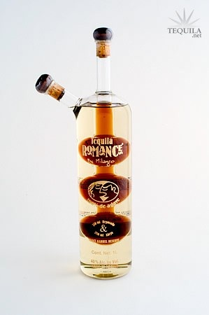 Milagro Tequila Romance - two types of tequila in one bottle...and what a pretty bottle it is :)