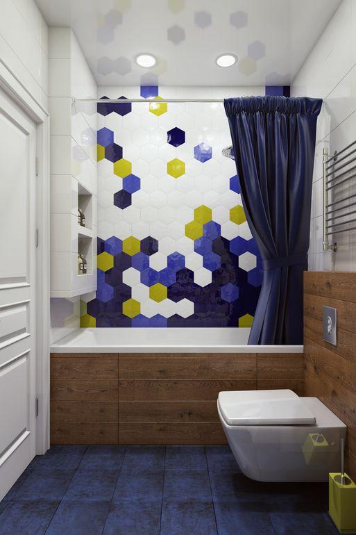 """Проект """" Белый цвет + акцент= нескучный интерьер"""") про покраску стен в ванной"""
