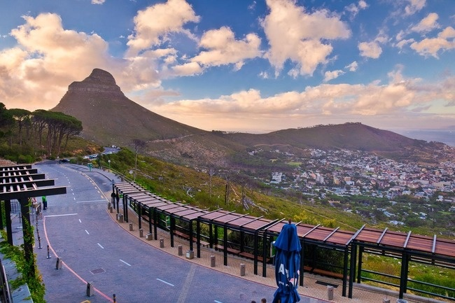 View from lower cablecar station,Table Mountain, Cape Town, South Africa