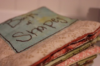 fabric quiet book of shapes: A Quiet Books