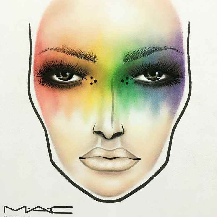 Blended rainbow but, across the face diagonally.