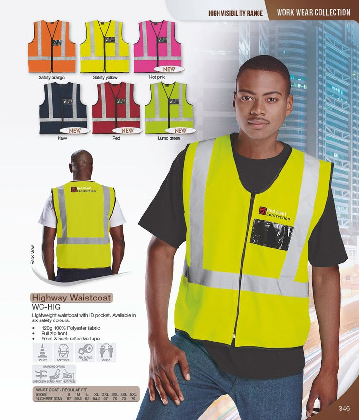 Reflective Vest #reflectiveclothing #safetywear #safetyclothing #workwear