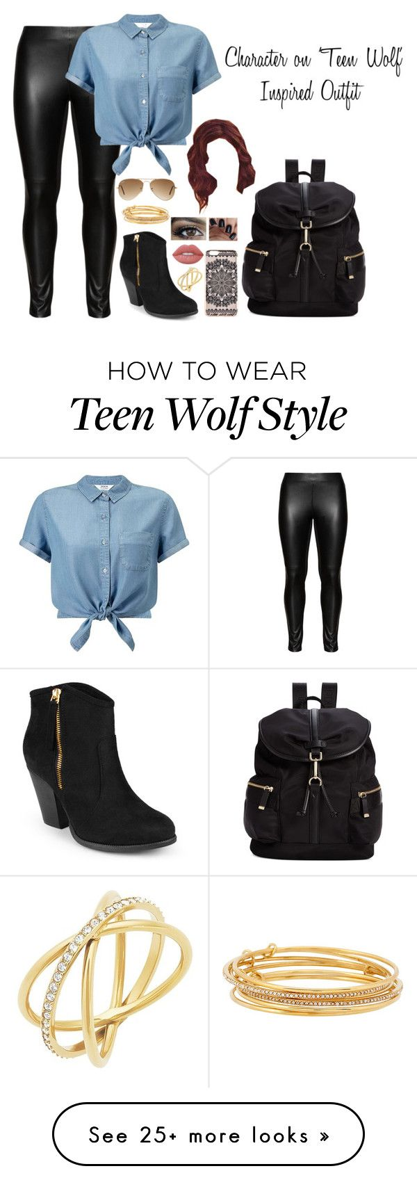 """Character on 'Teen Wolf' Inspired Outfit"" by a-torres2018 on Polyvore featuring Studio, Miss Selfridge, Michael Kors, Journee Collection, Calvin Klein, New Look, Ray-Ban, Kate Spade, Lime Crime and Inspired"