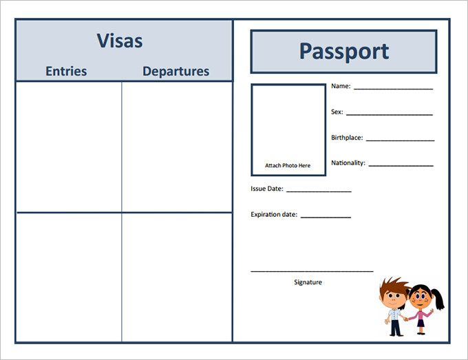 Best 25 passport template ideas on pinterest passports for Printable passport template for kids