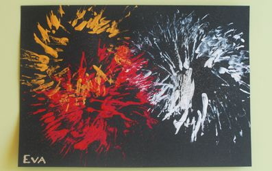Feu d'artifice en peinture | jouonsensemble