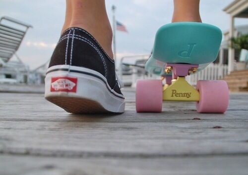 Penny boarding and Vans ♡