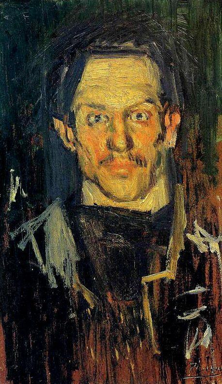 "Pablo Picasso ""Self-Portrait"" 1901 (The Courtauld Gallery, London special exhibit)"