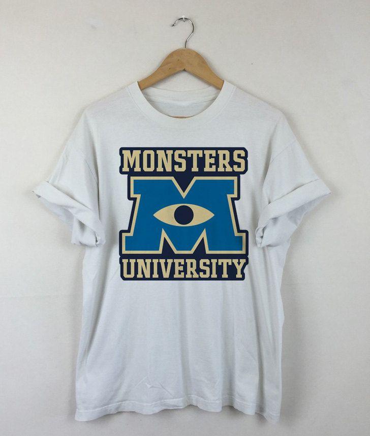 Monster University logo T-shirt, Monster University 2015, Monster University Cartoon, Monster University Animation, Men and Women Shirt by RizalDesign on Etsy