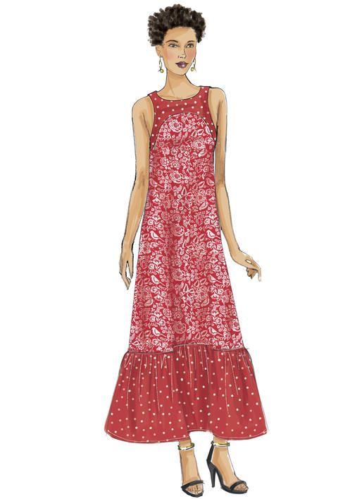 Mejores 81 imágenes de Maxi Dress Patterns en Pinterest | Patrones ...