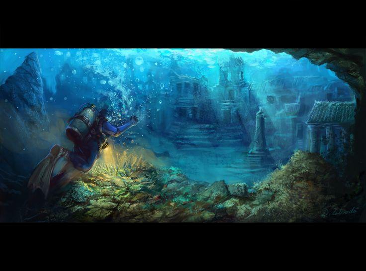 Underwater Metropolis by daRoz.deviantart.com on @deviantART