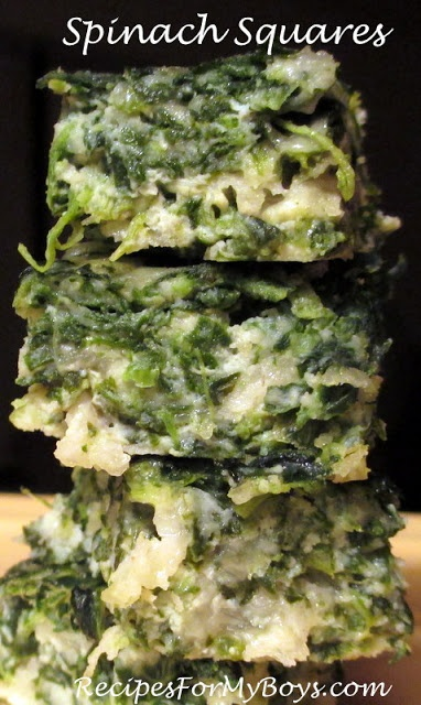 Recipes For My Boys: Spinach Squares