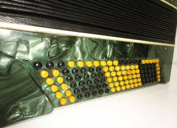 ⇨ Full 120 Bass Ukrainian Button Accordion Bayan Kreminne, Chromatic, B System 896, Very Beautiful Sound. #1387 ⇒ CLICK HERE FOR MORE ACCORDIONS AND BAYANS OFFERED BY OUR MUSICAL WORKSHOP HARMONY: https://www.etsy.com/shop/Harmony4Life/items?ref=hdr_shop_menu&search_query=Accordion ►