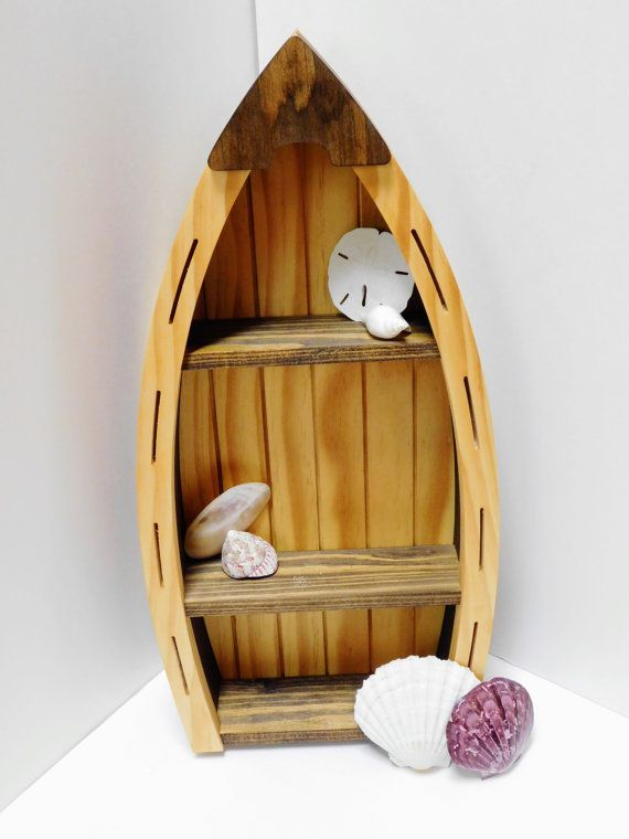 Wooden Boat Shelf by CursonContours on Etsy
