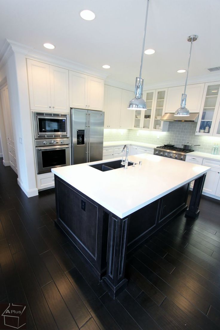 #Transitional #Kitchen #Home, #bathroom, #fireplace #remodel with custom white #cabinets in city of #Fullerton #OrangeCounty