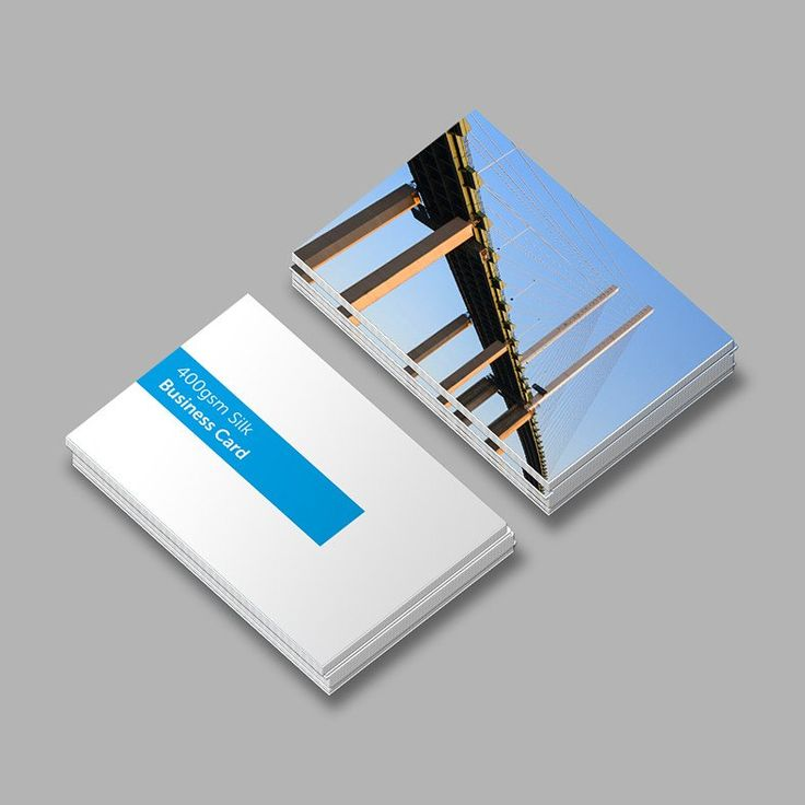 Economy 400gsm Silk Standard Single or Double Sided Business Cards