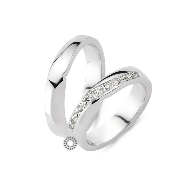 Γαμήλιες βέρες CHRILIA 21 σε ιδιαίτερο desin γυαλιστερές και λευκές με τη δυνατότητα να προσθέσετε διαμάντια | Βέρες γάμου & αρραβώνα ΤΣΑΛΔΑΡΗΣ στο Χαλάνδρι #βερες #γάμου #wedding #rings #Chrilia