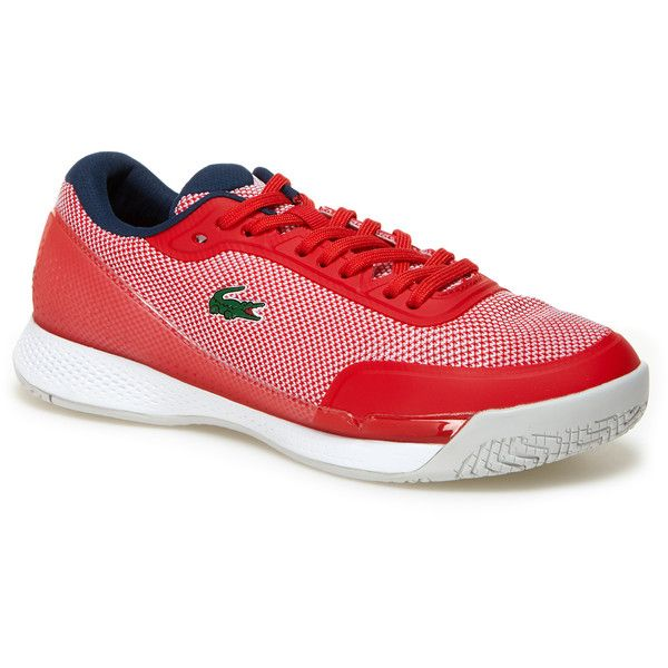 Red Women's Lt Pro Bicolor Technical Canvas Sneakers ($87) ❤ liked on Polyvore featuring shoes, sneakers, red canvas sneakers, plimsoll sneakers, canvas sneakers, canvas shoes and red trainers