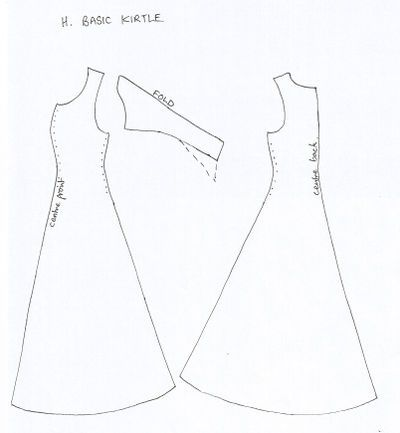 Medieval costume patterns buena base para tapado