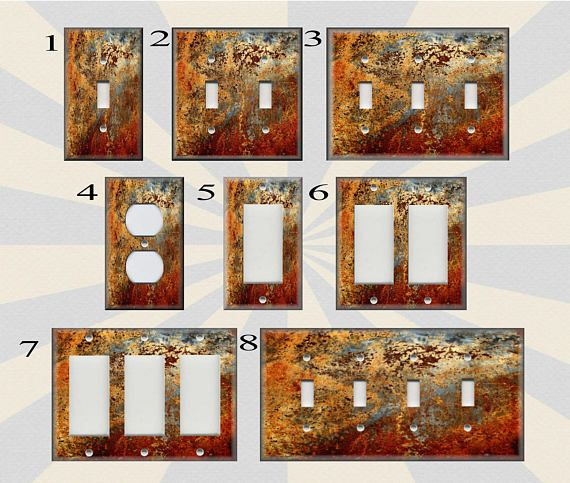 Metal Switch Plate Covers Image Of Aged Copper Patina